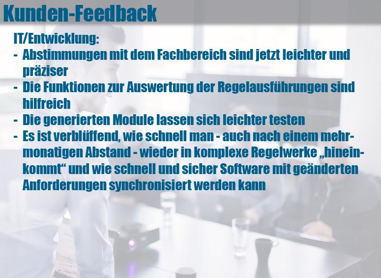 Entscheidungstabellen-Tool LF-ET: Feedback von Software-Architekten und Entwicklern