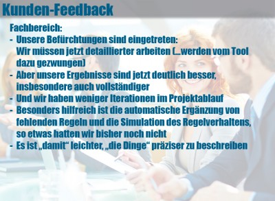 Entscheidungstabellen-Tool LF-ET: Feedback von Fachbereichen