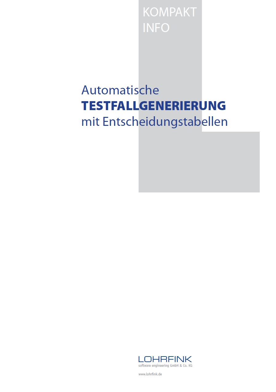 Automatische Testfallgenerierung mit Entscheidungstabellen